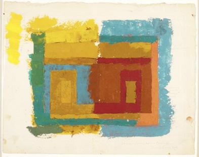 Josef Albers - Estudio para una Variant (Variante),  c  1947