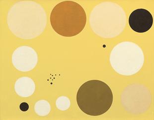 Loló Soldevilla Carta celeste en amarillo n° 1, París, 1953. Óleo sobre lienzo