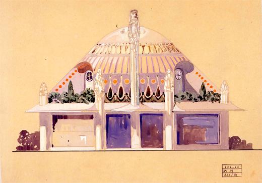 Henry Sauvage. Exposición Internacional de Artes Decorativas Modernas. París. Pavillon Primavera. 1925