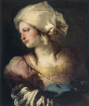 Retrato de mujer de perfil. Supuesto retrato de Anna Maria Tiepolo