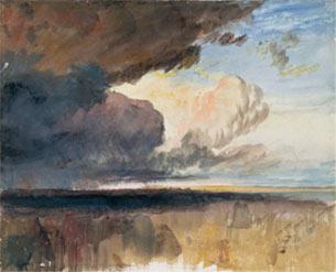 J. M. W. Turner, Nubes densas y oscuras, ca. 1822