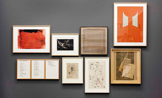 From left to right, works by Antoni Tàpies, Francisco de Goya, Eusebio Sempere, Gustavo Torner, Rafael Alberti, Pablo Picasso and Gerardo Rueda. ©Vegap, Madrid, 2016