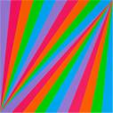 Max Bill, rhythmus in fünf farben [ritmo en cinco colores], 1985
