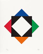 """Max Bill, """"offenes zentrum"""" [centro abierto], 1972"""