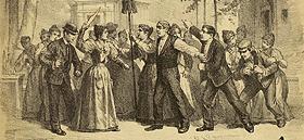 """Detalle de la partitura de """"Las bravías"""" de Ruperto Chapí; libreto de José López Silva y Carlos Fernández Shaw. Madrid: Pablo Martín [1896]"""