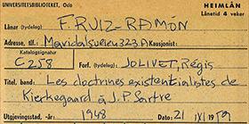 Biblioteca personal de Francisco Ruiz Ramón