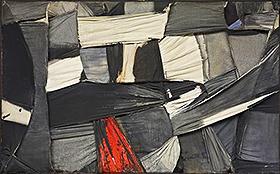 """Salvatore Scarpitta. """"Trapped Canvas"""" [Lienzo atrapado], 1958."""