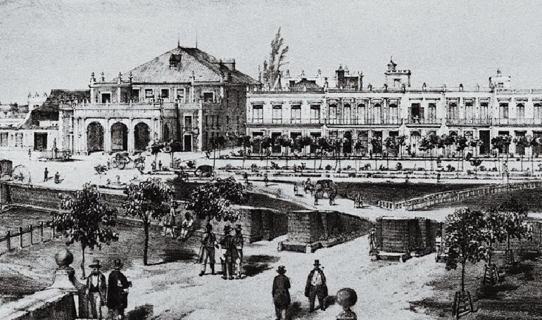 El Teatro Tacón de La Habana en una litografía del siglo XIX