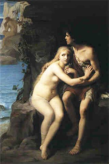 Éduoard Zier, <em>Acis y Galatea se esconden de Polifemo</em> (1877)