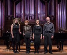 Elena Aguado, Ana Guijarro, Mariana Gurkova y Sebastián Mariné, pianos