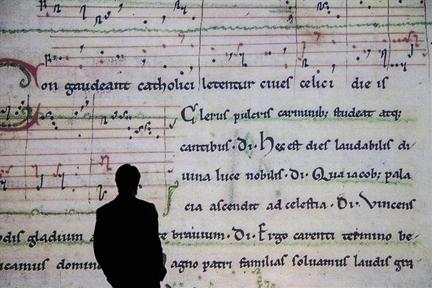 De izda. a drcha.: Juan Carlos Asensio y  Schola Antiqua