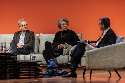 De izda. a drcha.: José Luis Pardo, Amparo Lasén y Antonio San José