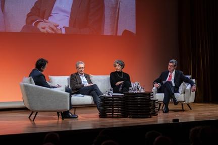 De izda. a drcha.: Íñigo Alfonso, José Luis Pardo, Amparo Lasén y Antonio San José