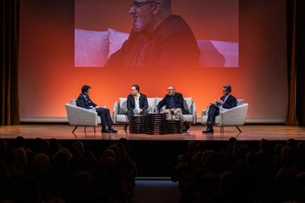 De izda. a drcha.: Íñigo Alfonso, Federico Martinón-Torres, Ignacio López-Goñi y Antonio San José