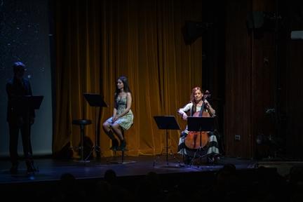 De izda. a drcha.: Ernesto Arias, Nora Hernández y Irene Rouco