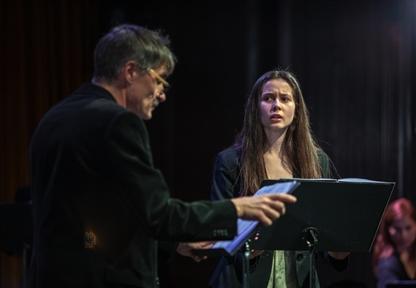 De izda. a drcha.: José Luis Alcobendas y Nora Hernández