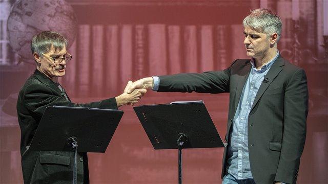 Lectura dramatizada de textos del Fausto de Goethe, bajo la dirección de Ernesto Arias, comentada por Helena Cortés Gabaudan