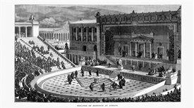 El teatro ático: debate político y emotividad