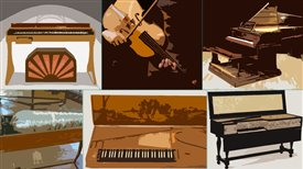 Virginal and clavichord