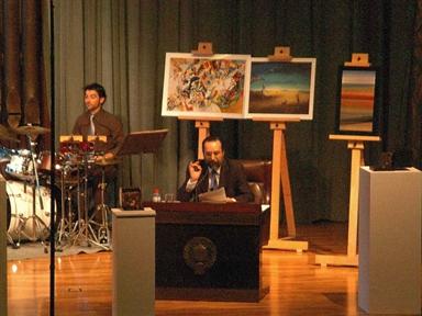 De izda. a drcha.: Antonio Domingo Ruiz y Carlos Cruz de Castro