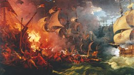 The history of the Spanish Armada (1588) and the English-Counter Armada (1589)