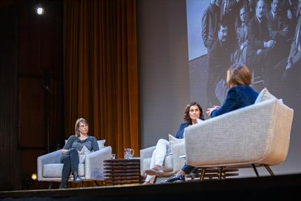 De izda. a drcha.: Beatriz Cordero, Inés Vallejo y Lara Siscar