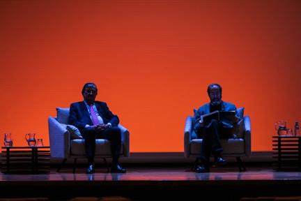 De izda. a drcha.: Rafael Calduch y Felipe Sahagún
