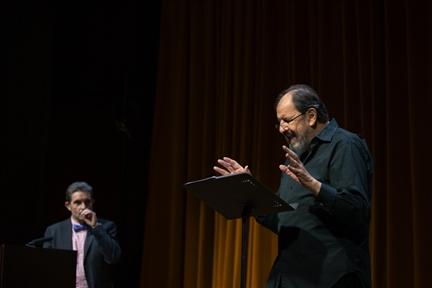 De izda. a drcha.: Francisco Pina Polo y José María Pou