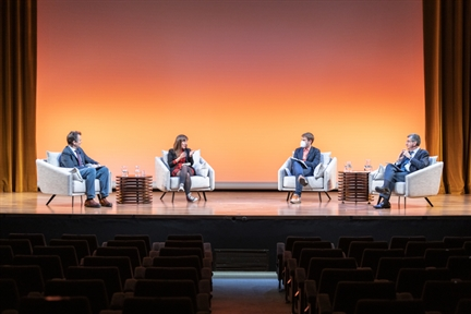 De izda. a drcha.: Íñigo Alfonso, Eva Belmonte, Eduardo Suárez y Antonio San José