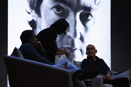 De izda. a drcha.: Adriano Morán, Paz Fernández y José Sanchis Sinisterra
