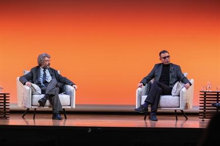 De izda. a drcha.: Alfredo Martínez Hernández y José Manuel López Nicolás