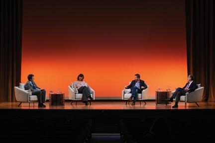 De izda. a drcha.: Íñigo Alfonso, Sandrine Morel, Daniel Dombey y Antonio San José
