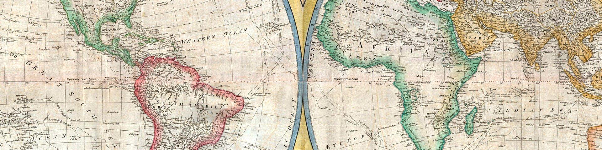 Mapas de todos los colores, siglos XVIII y XIX