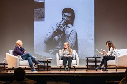 De izda. a drcha.: Bruno Galindo, Mariángeles Fernández y Lara Siscar