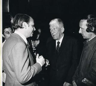 De izda. a drcha.: Cristobal Halffer, Oskar Kokoschka y Lucio Muñoz