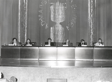 De izda. a drcha.: José Carlos Mainer, Francisco Jarauta, Javier Gomá, José Mª González, José María Guelbenzu y Patricio Peñalver