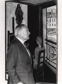 Joan Miró (en su visita a la Exposición