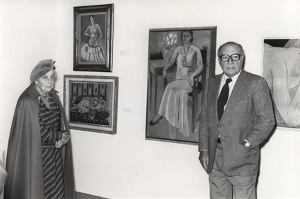 Marguerite Duthuit y Pierre Matisse (hijos de Henri Matisse)