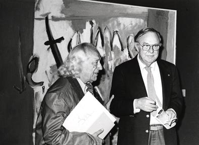 De izda. a drcha.: Rafael Alberti y Robert Motherwell