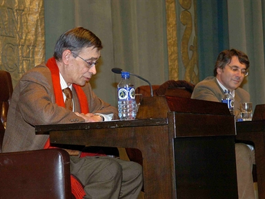 De izda. a drcha.: Carlos Pujol y Andrés Trapiello
