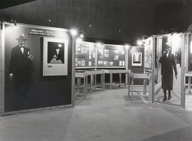 Vista parcial de la Exposición sobre Fernando Pessoa