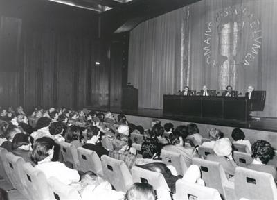 De izda. a drcha.: Carlos Cytrynowski, Adolfo Marsillach, Luciano García Lorenzo y Carlos Bousoño