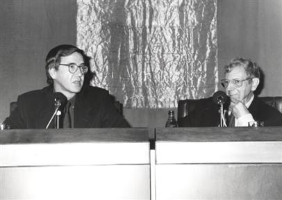 De izda. a drcha: Rafael Argullol y José María Valverde
