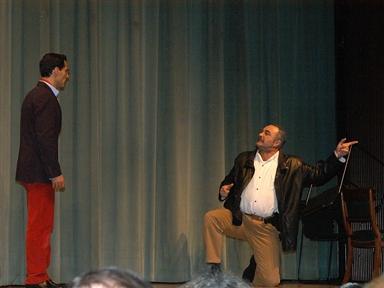 De izda. a drcha.: Manuel Bandera y Juan Alberto López. Lectura dramatizada de un fragmento de la obra