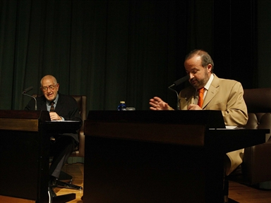 Poetics and Theatre: Ignacio Amestoy (II). A conversation with Javier Huerta Calvo and theatrical representation by Ainhoa Amestoy and Eloy Azorín