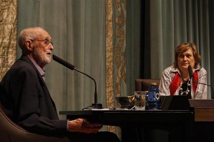 José Luis Sampedro y Olga Lucas