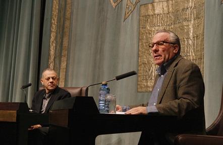 De izda. a drcha: Lluís Pascual y Luciano García Lorenzo