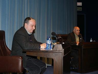 De izda. a drcha.: Rafael Chirbes y Santos Alonso