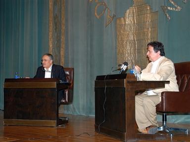 De izda. a drcha.: Ángel Basanta y Luis Landero