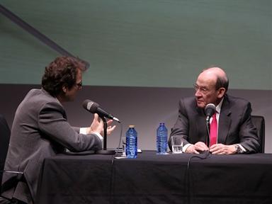 De izda. a drcha. : Iñigo Alfonso y Enrique Gimbernat